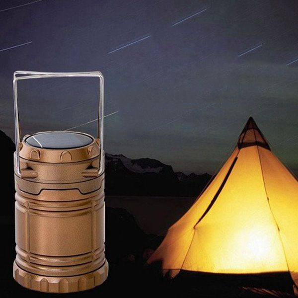 Portable Led Solar Camping Lamp Outdoor Indoor Emergency Usb Phone Charging Light Camping Lamp Solar Camping Solar Lights