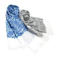 Block Printed Cotton Scarf : This Block Printed Cotton Scarf is made from the softest of cotton and each piece is block printed by hand.