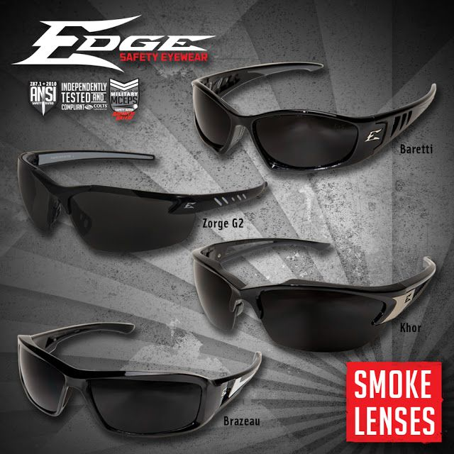 Smoke lenses provide the perfect all-around tint for bright light conditions. This popular lens color blocks the brightest sunrays and glare without creating color distortion. 16% of visible light passes through this lens color.