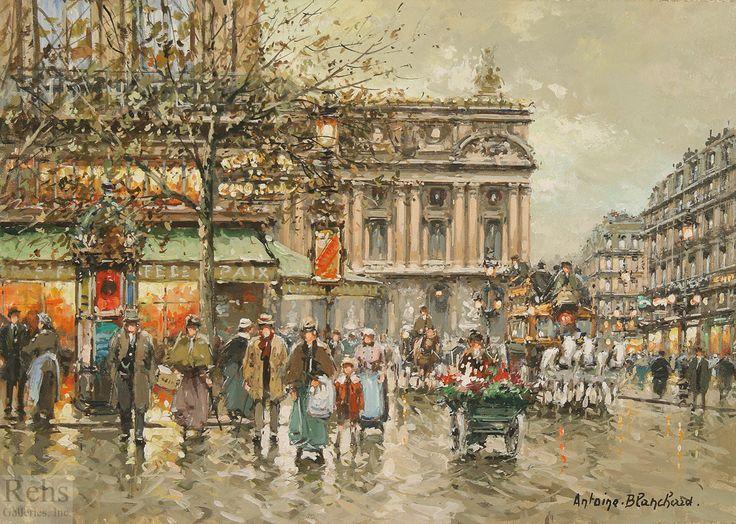 Antoine Blanchard l'Opera Cafe de la Paix