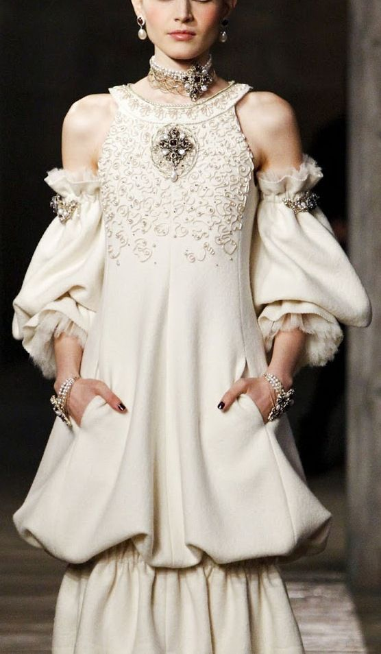 Chanel Pre-Fall 2013....not that I would ever have a place to wear this ensemble but I absolutely love it! In my opinion....it's a classic and very forgiving!