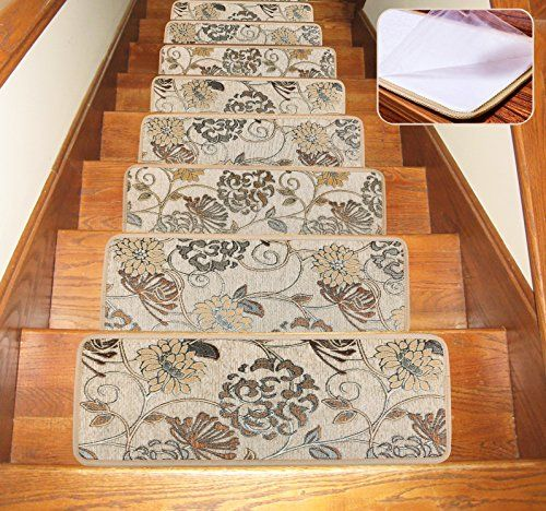 Best Soloom Carpet Stair Treads Indoor Set Of 13 Blended Jacqu 400 x 300