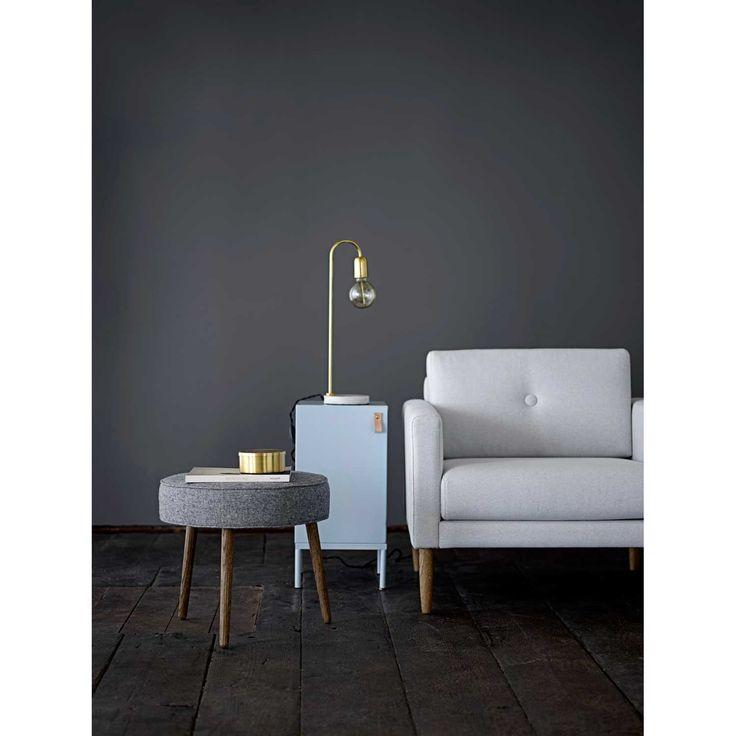 Bloomingville table lamp, marble/brass – Bloomingville – #interior #design #scandinavian