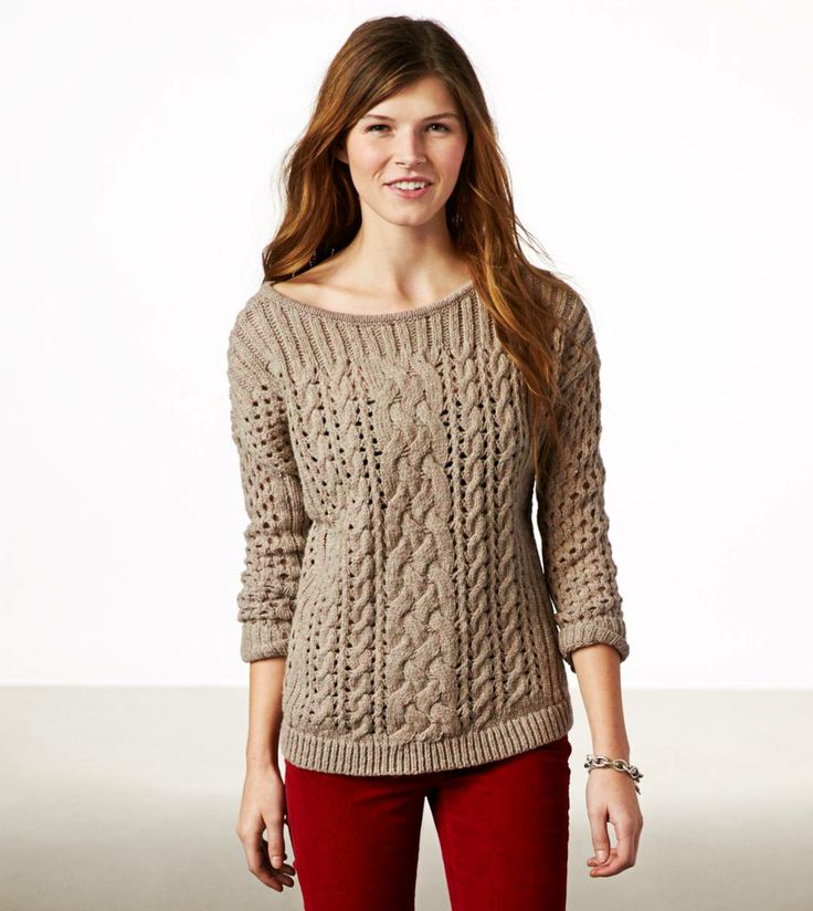 350 best Sweater images on Pinterest | Cable knitting, Fall styles ...