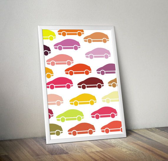 instant download cars poster for kids room  poster by 4KIDSfactory, $3.00