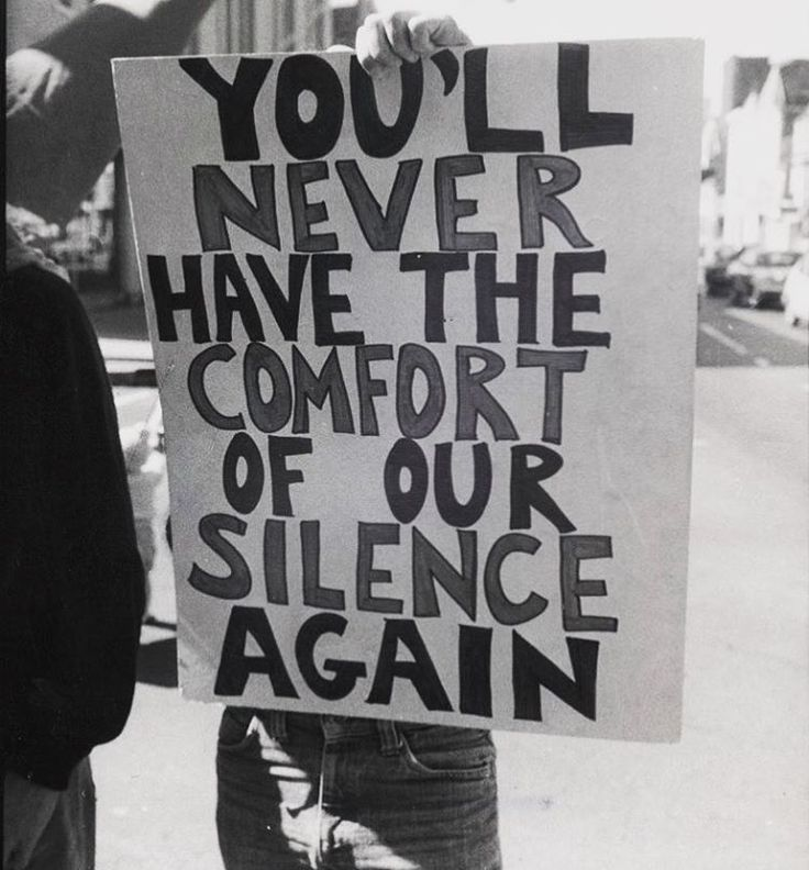 """""""YOU'LL NEVER HAVE THE COMFORT OF OUR SILENCE AGAIN,"""" anti-Anita Bryant and Briggs Initiative protest, San Francisco, California, September 23, 1978. Photo © Jimmy Mike."""