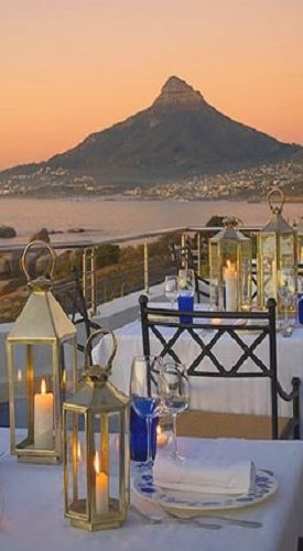 Romance is in the air when you are dining in Cape Town, South Africa.