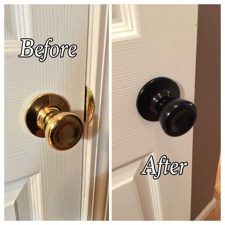 Refinished my door knobs