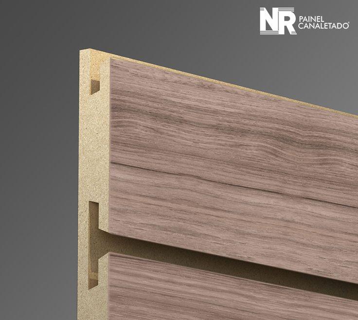 Painel Canaletado Terrara Wood - Expositores Canaletados de Loja