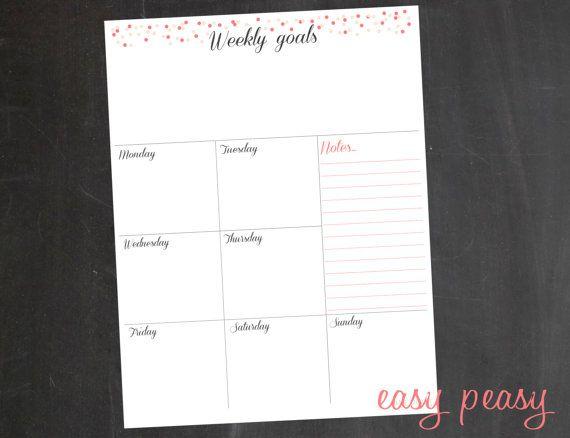 Weekly Planner Printable Weekly Organizer A4 от EasyPeasyPaper