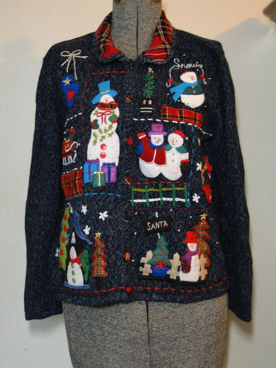 Ugly Christmas Sweater Cardigan Cheap Jumper by ABetterSweaterShop, $19.99