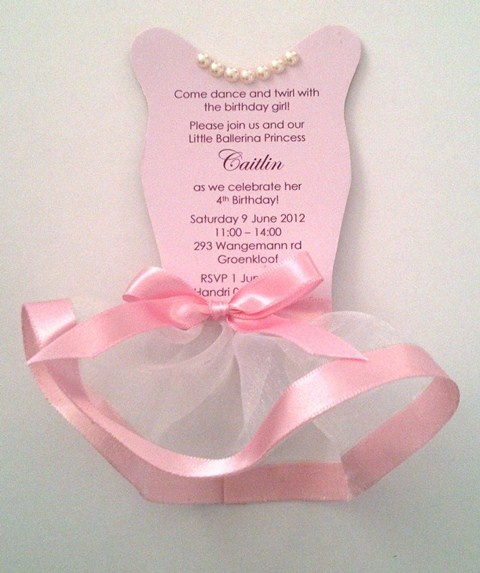 17 Best ideas about Tutu Invitations on Pinterest | Tutu party ...