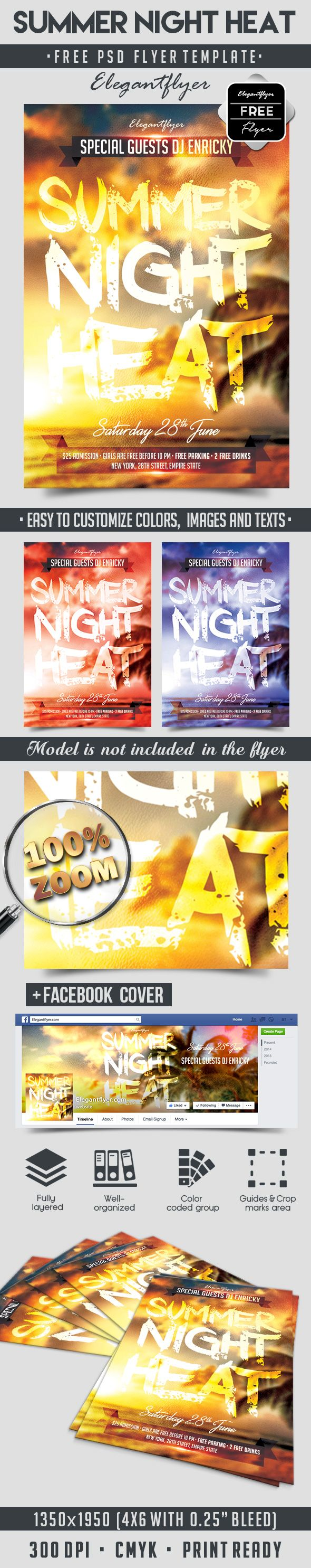 images about psd flyer design mardi summer night heat flyer psd template facebook cover