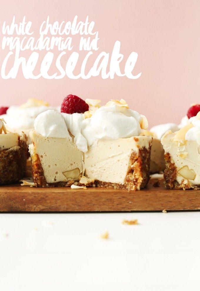White Chocolate Macadamia Nut CHEESECAKE! #vegan #glutenfree