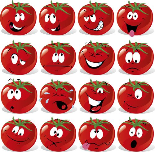 Funny tomato face expressions icons vector is free Vector icon that you can download for free. . File format: AI, EPS. Download funny tomato face expressions ic