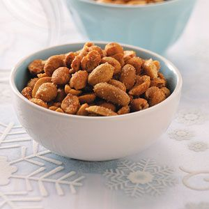 Spiced Peanuts...*****5Star Rating...Liven up plain peanuts with a sweet-and-spicy blend of flavors from sugar, cumin and cayenne pepper. You'll want to double...or triple...the recipe!