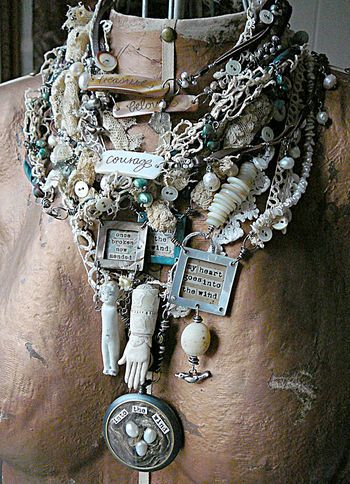 glorious altered necklace collection -repurposed vintage