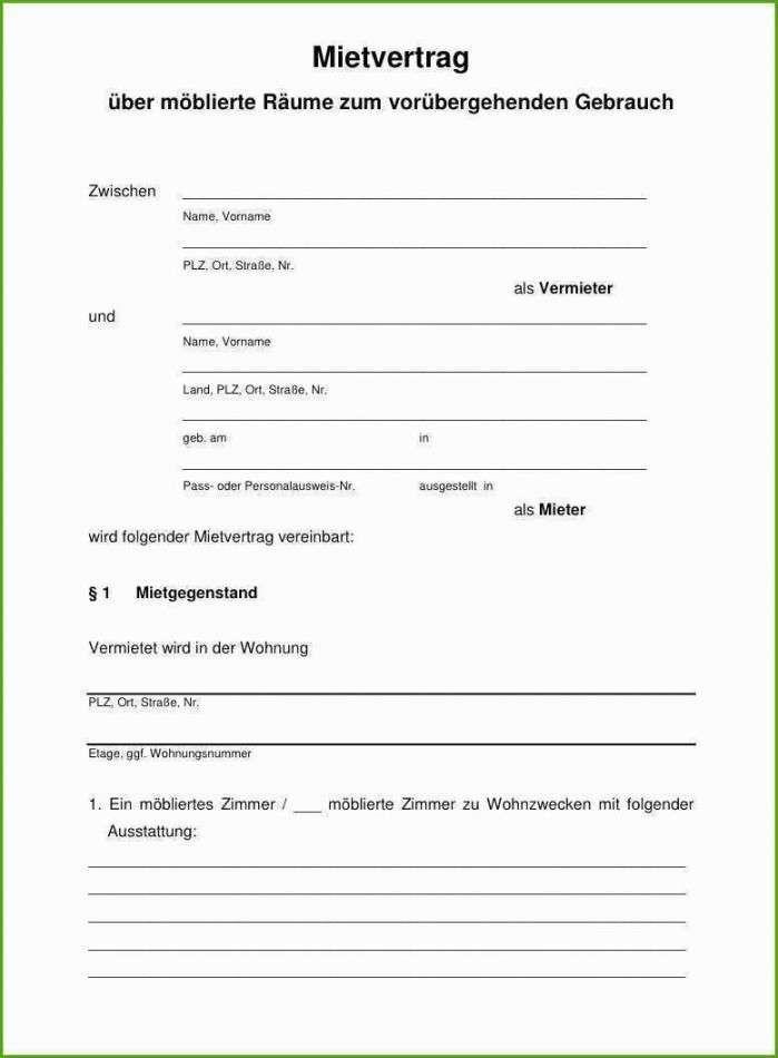 Mietvertrag Muster Kostenlos Download : mietvertrag, muster, kostenlos, download, Mietvertrag, Vorlage