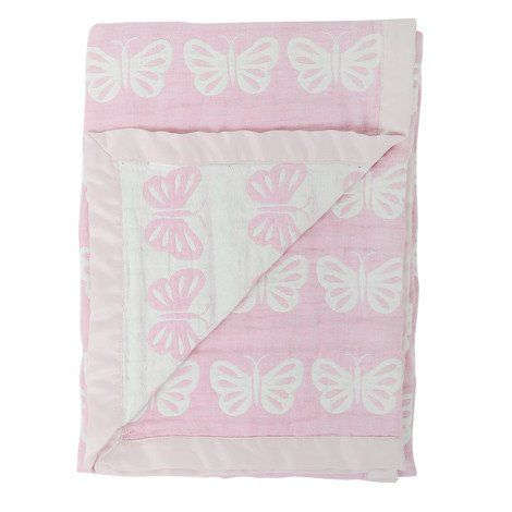 Silvercloud Double Sided Muslin Blanket Butterfly – White Rose Baby Boutique
