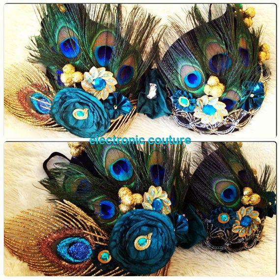 gorgeous! Peacock Princess Rave Bra Size 34B Original by ElectronicCouture, $45.00