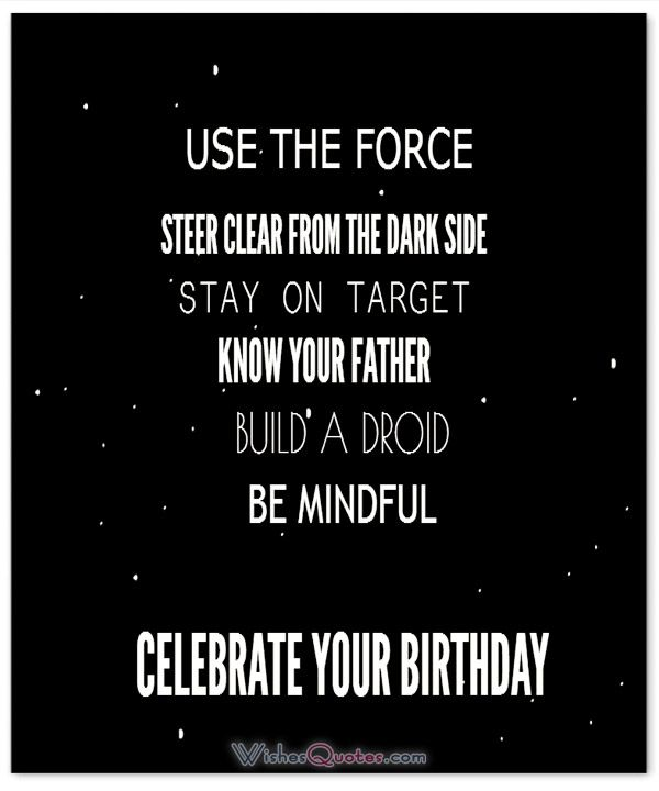 Star Wars Quotes The Force: 439 Best # Happy Birthday # Images On Pinterest