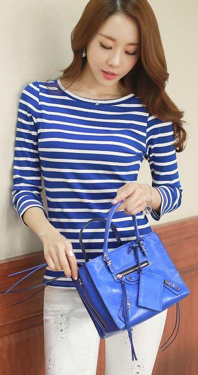 StyleOnme_Squared Zipper Detail Handbag #bag #handbag #zipper #square #motorbag