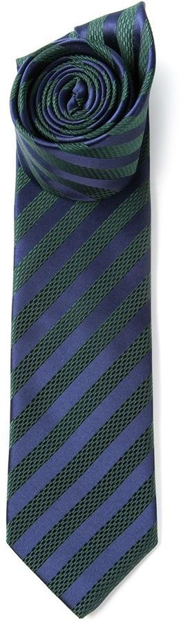$116, Striped Tie by Lanvin. Sold by farfetch.com. Click for more info: http://lookastic.com/men/shop_items/57000/redirect