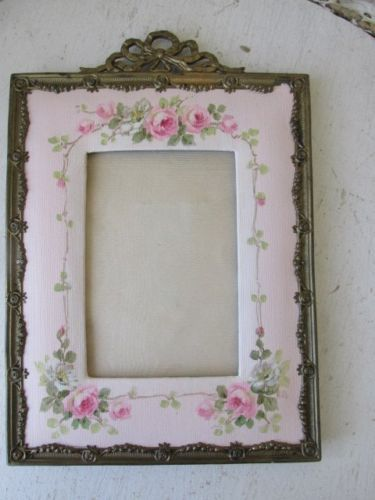 OMG ORIGINAL Christie REPASY PAINTING Pink ROSES on OLD Vintage PICTURE FRAME in Art, Art from Dealers & Resellers, Paintings | eBay