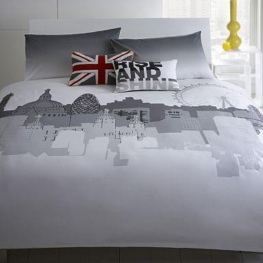 17 best ben de lisi house stuff images on pinterest debenhams grey skyline bedding set duvet covers pillow cases bedding home gumiabroncs Choice Image