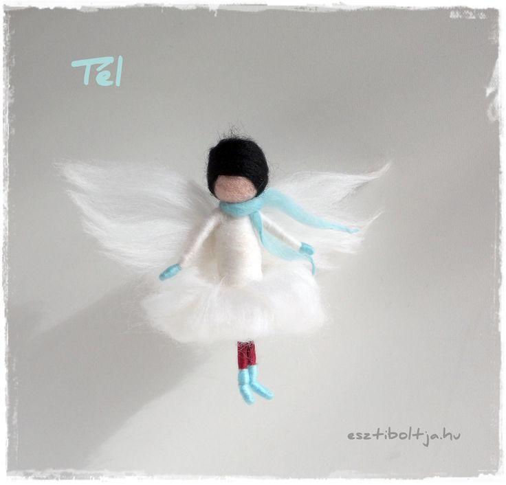Winter Needle felted Fairy