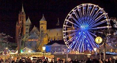 Maastricht, Vrijthof. Capital of the province of Limburg, the Netherlands.
