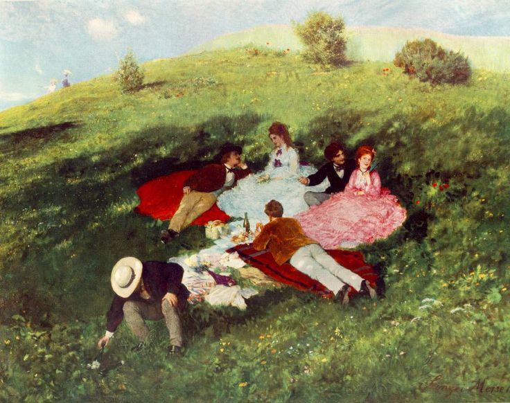 Picnic in May by Pál Szinyei Merse