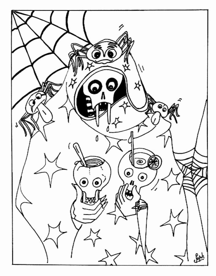 Scary Halloween Coloring Page Beautiful Free Printable ...