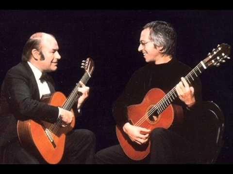Brahms - Theme and Variations in D minor, Op. 18b (Julian Bream & John Williams, guitars)