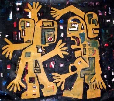 "Saatchi Art Artist dimitris p; Painting, ""Street Art  -old lives"" #art"