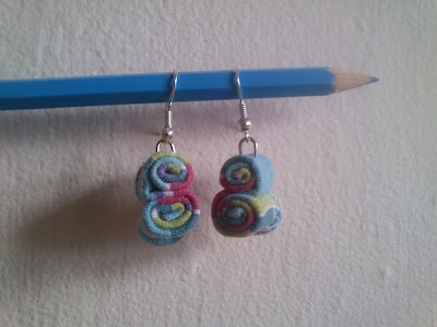 t-shirt scraps earrings