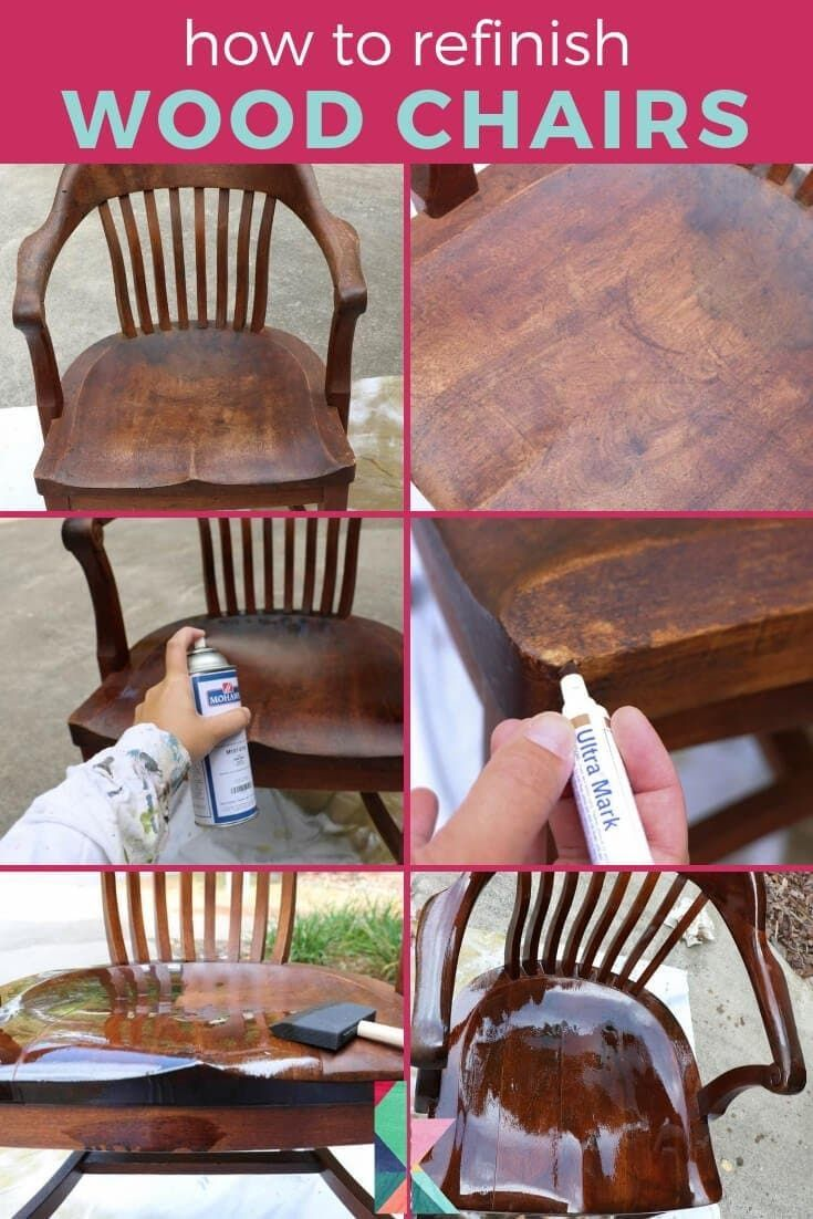 How to Refinish Wood Chairs the Easy Way!  Designertrapped.com