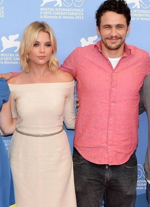 Ashley Benson with her boyfriend James Franco. Both are dating since 2012.
