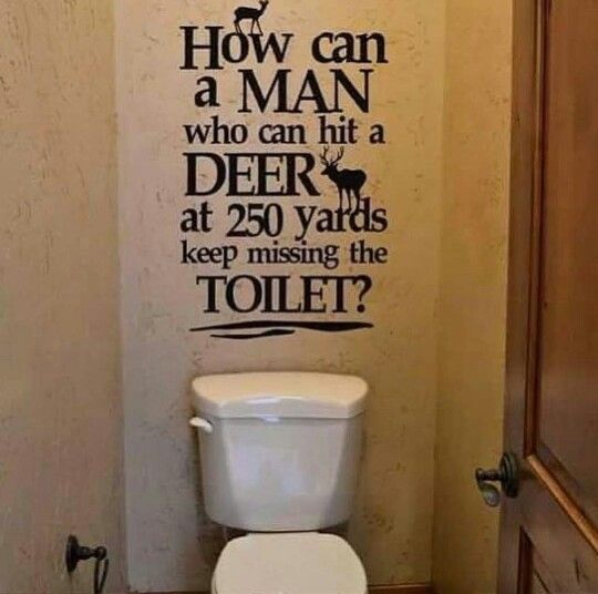 Awesome Bathroom Wall Sticker How Can A Man Who Can Hit