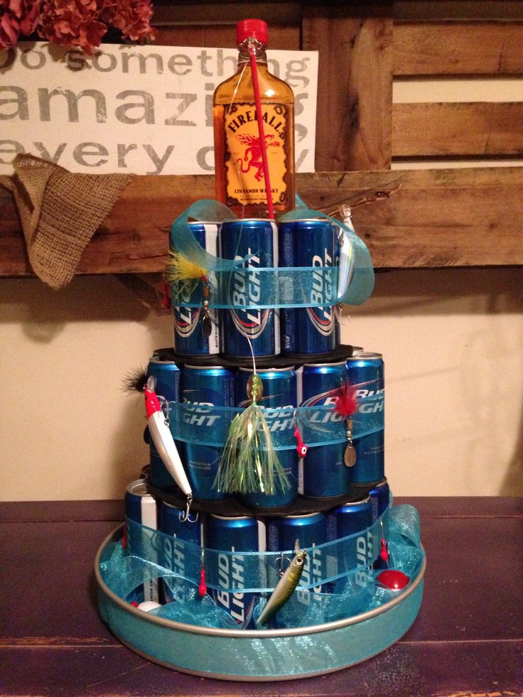 Fishing Themed Beer Cake Gifts Pinterest Beer Cakes