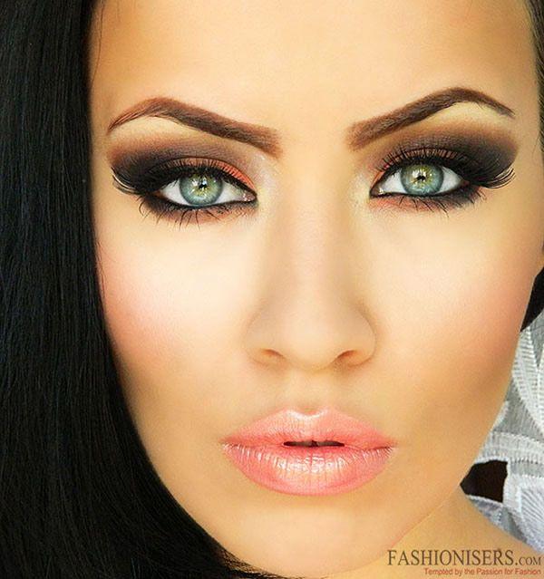 eye makeup   Orange & Brown Smokey Eye Makeup Tutorial   Fashionisers