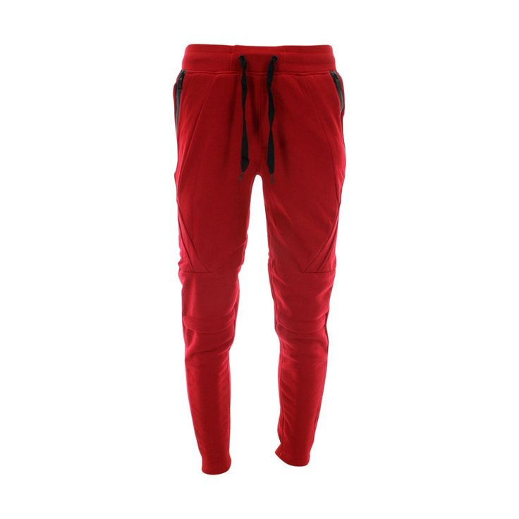 Switch Remarkable - Men's Fleece Joggers With Zipper Trim - Red