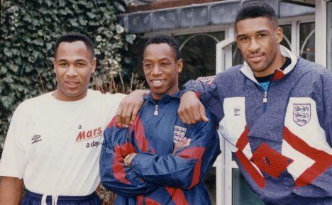 Les Ferdinand, Ian Wright and Brian Deane