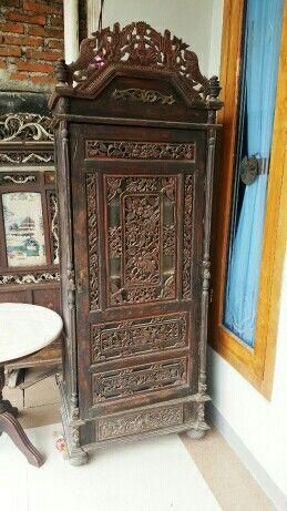 Antique Carved Cabinet. Made of teak.