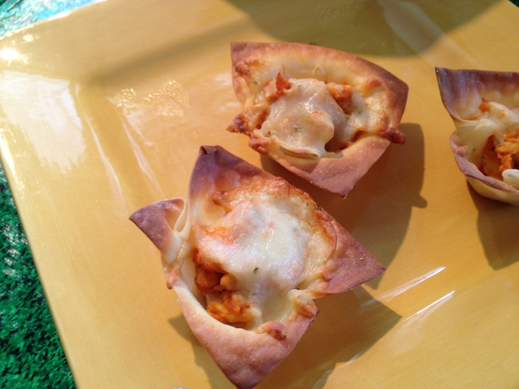 Buffalo Won Ton cups as seen on @Joy Call with @ShermanBurdette #Indy #Superbowl #Snacks