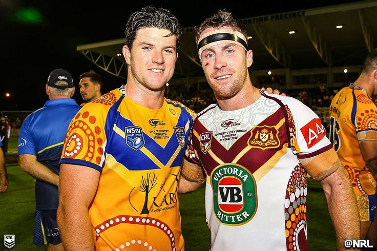Teammates at the Sharks, opposition for #CountryCity! #HistoryHappens #NRL