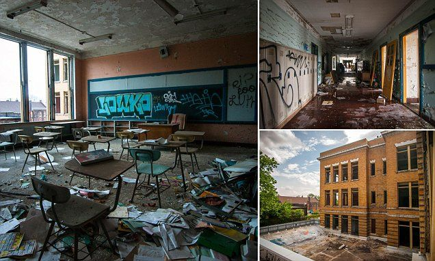 Hauntingly Beautiful Images Of Abandoned School In Cleveland Ohio