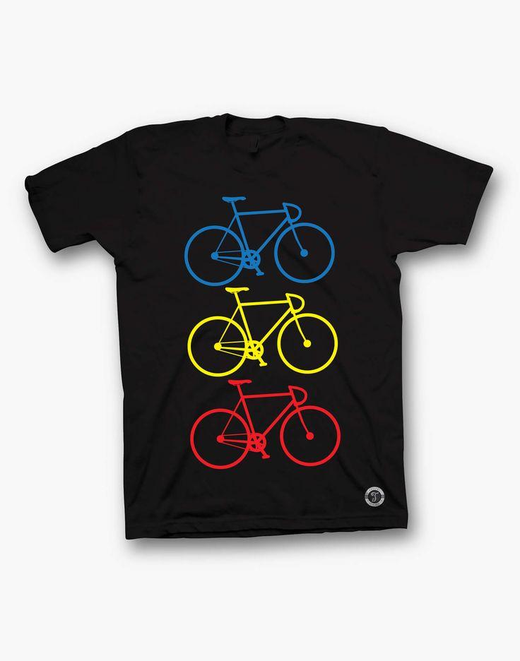 SPORT_Bicicleta tricolora negru