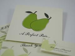 Perfect Pear Wedding Invitations.