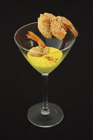Gamberi Sesamo & Zafferano / Sesame Shrimp & Saffron
